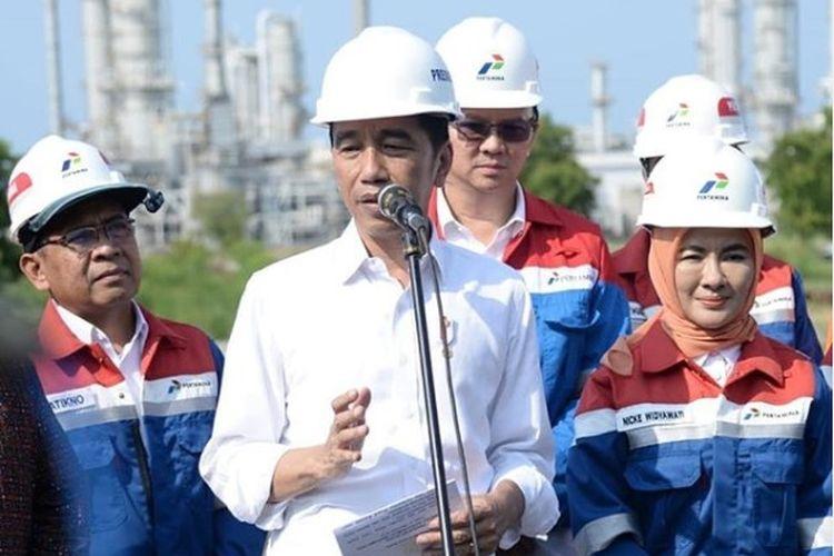 Jokowi dan Ahok di kilang TPPI Tuban