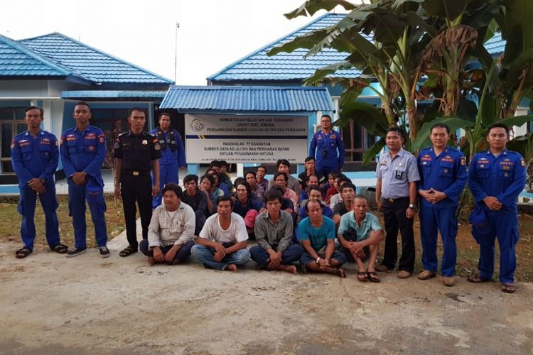 Kapal Polisi (KP) Baladewa 8002 berhasil menegah lima kapal asing asal Vietnam saat melakukan pencurian di perairan utara laut Natuna, Kepulauan Riau (Kepri), Kamis (10/5/2018) pagi kemarin.