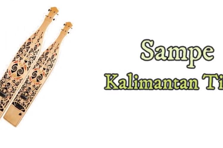 [Tangkapan Layar] alat musik Sampe, Kalimantan Timur