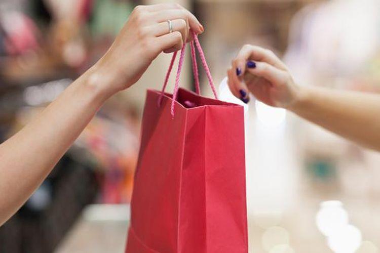 Ilustrasi kantong belanja pengganti plastik