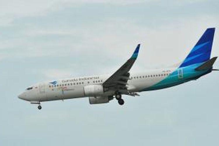 Salah satu pesawat Boeing 737-800 yang digunakan Garuda Indonesia.