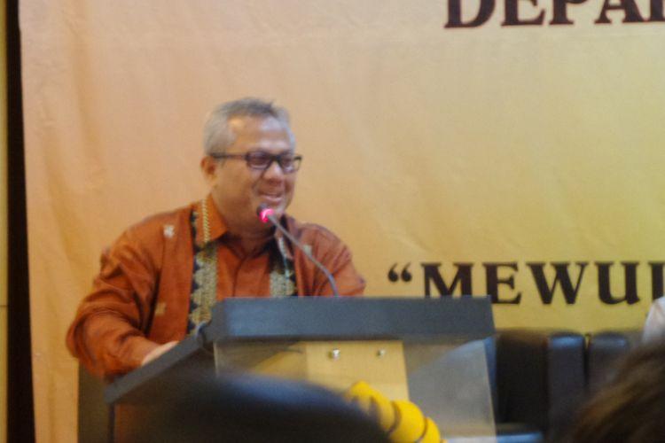 Ketua KPU Arief Budiman di Kampus UI Depok, Selasa (19/12/2017).