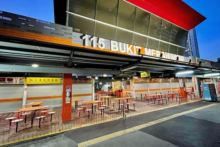 Pasar dan Pusat Makanan Bukit Merah View 115 di distrik Bukit Merah, Singapura menjadi klaster terbaru penyebaran kasus infeksi lokal Covid-19 di Singapura