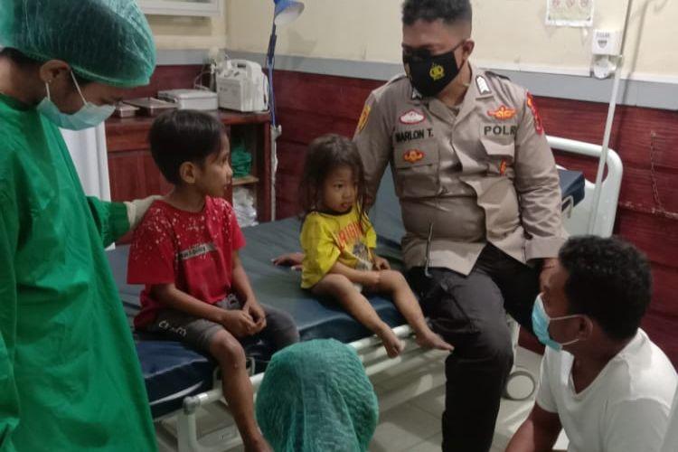 Bocah And dan JNd saat dirawat di Rumah Sakit Bhayangkara Kupang.