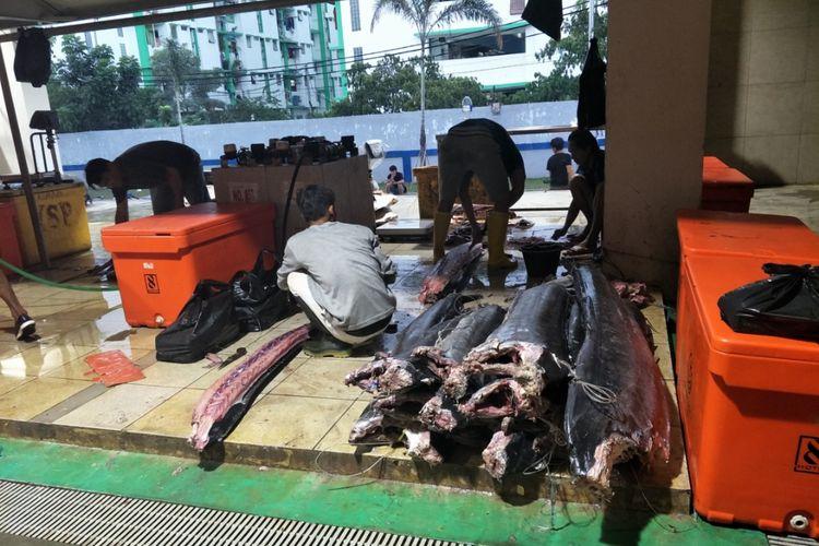 Pasar Ikan Modern Muara Baru, Jakarta Utara, Kamis (21/3/2019).