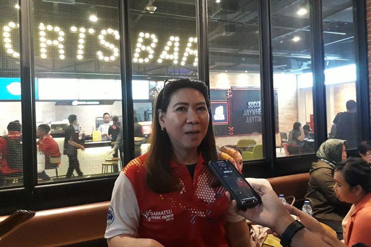 Legenda bulu tangkis Susi Susanti saat diwawancari di CGV fX Sudirman sebelum nonton bareng Susi Susanti - Love All, Kamis (7/11/2019).