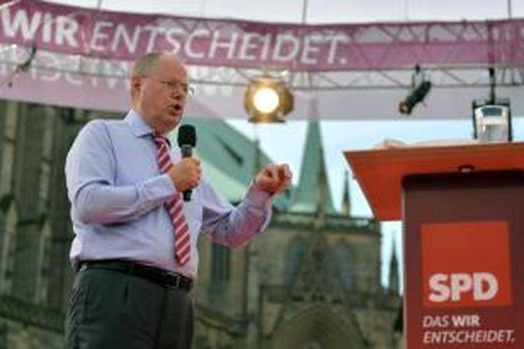 Peer Steinbrueck, kandidat kanselir Jerman dari Partai Demokratik Sosial (SDP).