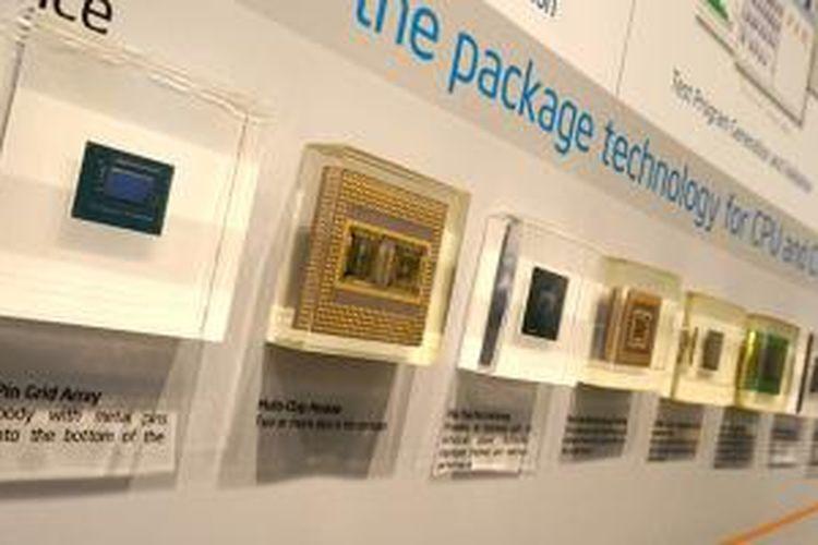 Jenis-jenis kemasan (package) yang dipakai untuk chip Intel