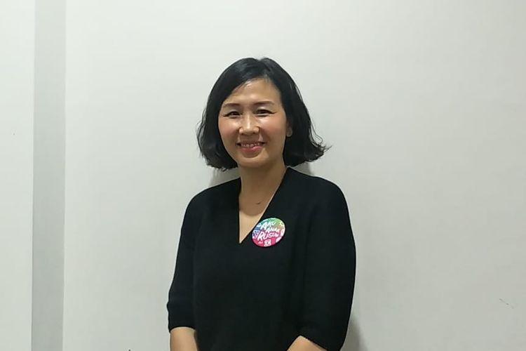 Veronica Tan saat ditemui di Gedung Kompas Gramedia, Palmerah Selatan, Jakarta Pusat, Kamis (24/10/2019).