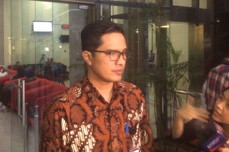 Juru Bicara KPK Febri Diansyah di Gedung Merah Putih KPK, Jakarta, Senin (23/7/2018) petang.