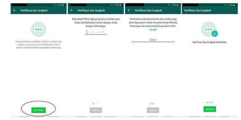 Salah satu cara untuk melindungi akun WhatsApp agar tidak mudah diretas adalah dengan mengaktifkan verifikasi dua langkah.
