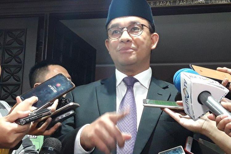 Gubernur DKI Jakarta Anies Baswedan di Gedung DPRD DKI Jakarta, Senin (22/7/2019)