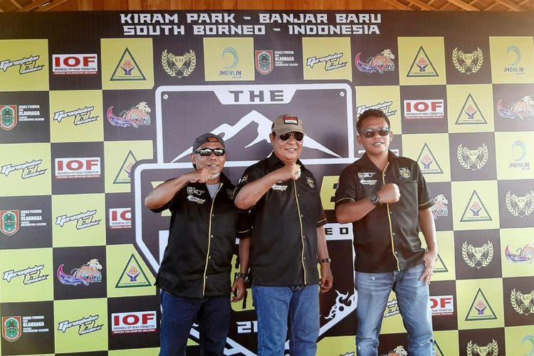 Konferensi pers Uncle Hard Enduro 2019 di Kiram Park, Banjar, Kalimantan Selatan.