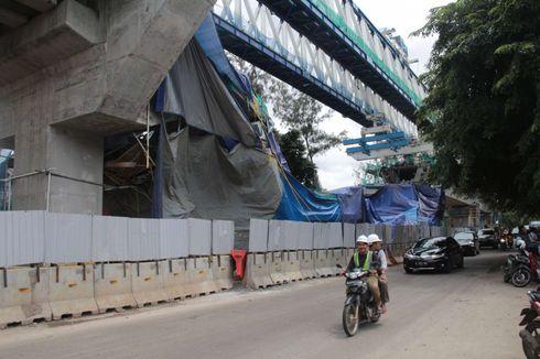 Garis Polisi Belum Dibuka, Aktivitas Konstruksi di Lokasi Jatuhnya