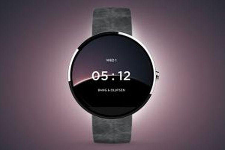 Salah satu tema Android Wear yang dibuat oleh perusahaan audio Bang & Olufsen