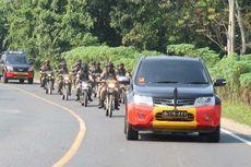 Amankan Jalur Mudik yang Rawan Begal, Brimob Polda Lampung Patroli Jalan Lintas Tengah Sumatera