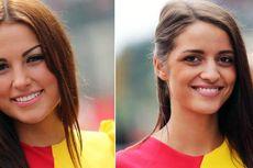 Senyum Menggoda Gadis Payung F1 Belgia 2014
