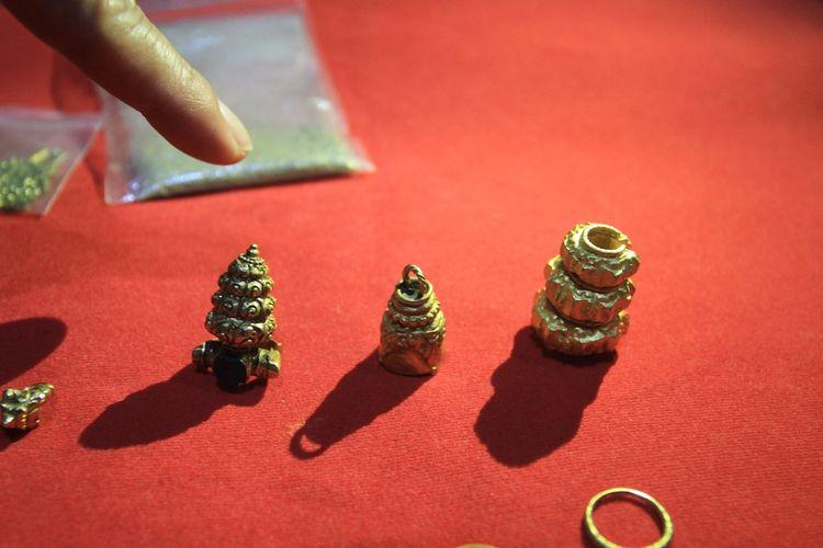 Emas hasil penemuan warga yang dijual ke pengepul di Kecamatan Cengal, Kabupaten Ogan Komering Ilir, Sumatera Selatan.