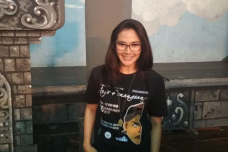 Maudy Koesnaedi berpose saat jumpa pers Pagelaran Ketoprak Tari Aryo Penangsang, di Gedung Pertunjukan Wayang Orang Bharata, Senen, Jakarta Pusat, Jumat (3/11/2017).