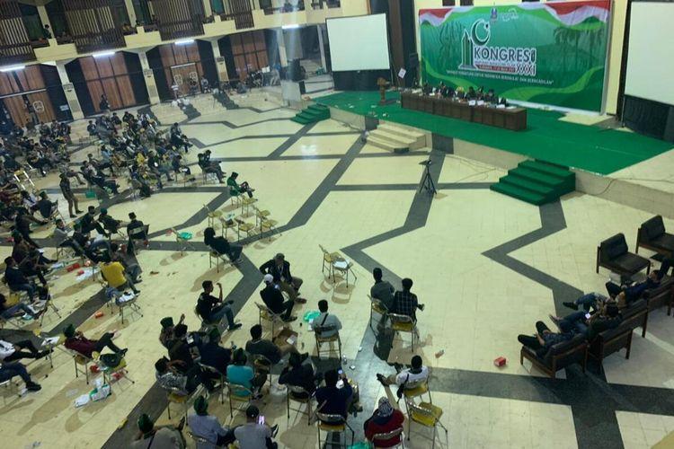 Arena forum utama Kongres HMI XXXI di Gedung Islamic Center Surabaya.