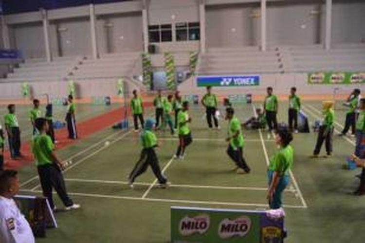 Suasana Program MILO Ayo Olahraga di Palembang, 17-19 Februari 2014