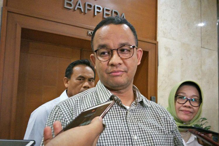Gubernur DKI Jakarta Anies Baswedan di Balai Kota DKI Jakarta, Jalan Medan Merdeka Selatan, Sabtu (4/11/2017)