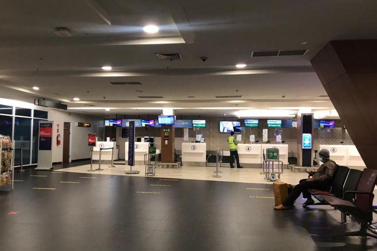 Suasana Bandara Husein Sastranegara, Bandung, Senin (3/5/2021).