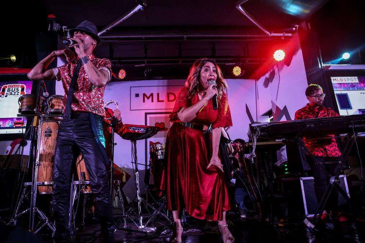 Grup musik The Groove tampil di Java Jazz Festival 2019 yang dihelat di Jakarta International Expo (JIExpo) Kemayoran, Jakarta Pusat, Jumat (1/3/2019). Pergelaran acara musik Java Jazz Festival 2019 akan digelar sampai 3 Maret mendatang.