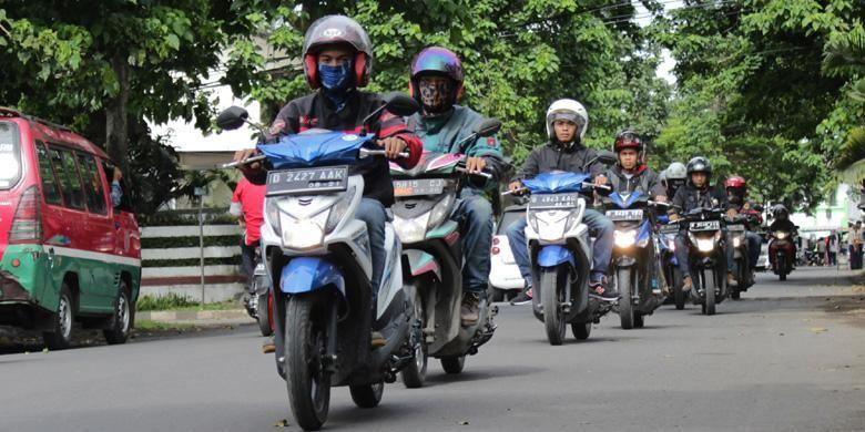 kegiatan touring uji irit All New Honda BeAT.