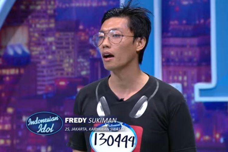 Fredy, salah satu kontestan Indonesian Idol X.
