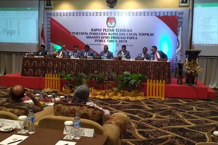 Rapat Pleno Penetapan Kursi DPR Papua, di Kota Jayapura, Papua, Rabu (14/08/2019)