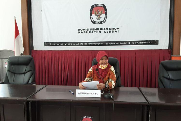 Ketua KPU Kabupaten Kendal, Hevy Indah Oktaria. KOMPAS.COM/SLAMET PRIYATIN