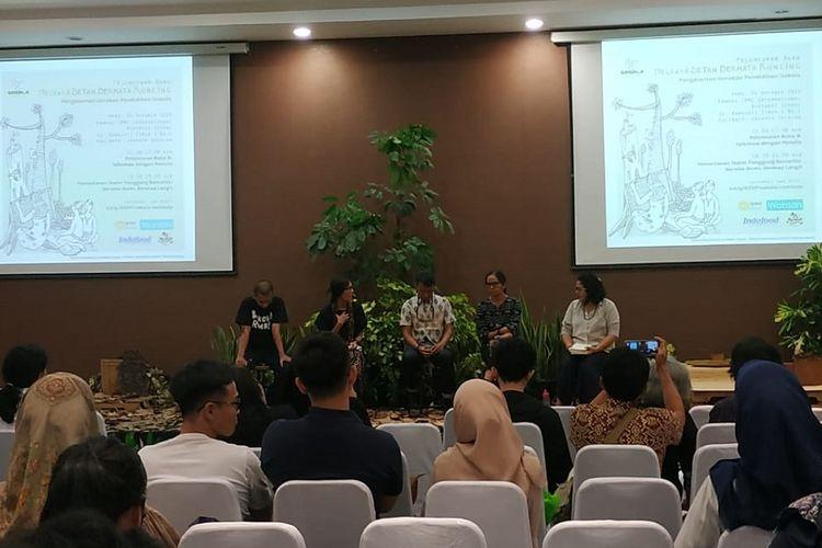Peluncuran buku ?Setan Bermata Runcing: Pengalaman Gerakan Pendidikan Sokola?, Rabu (30/10/2019) di Jakarta.