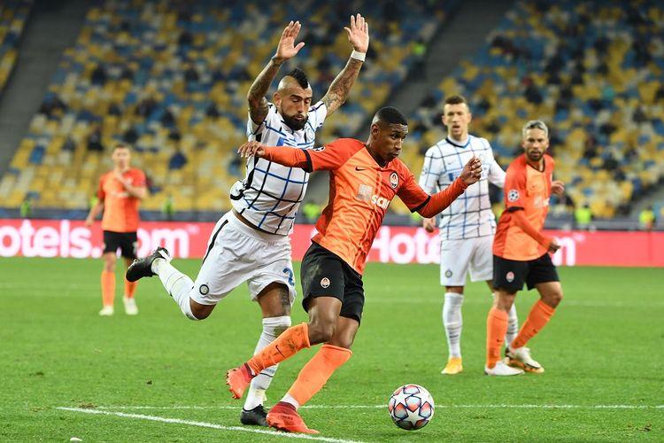 Laga antara Shakhtar Donetsk dan Inter Milan pada matchday kedua Liga Champions, Rabu (28/10/2020) dini hari WIB.