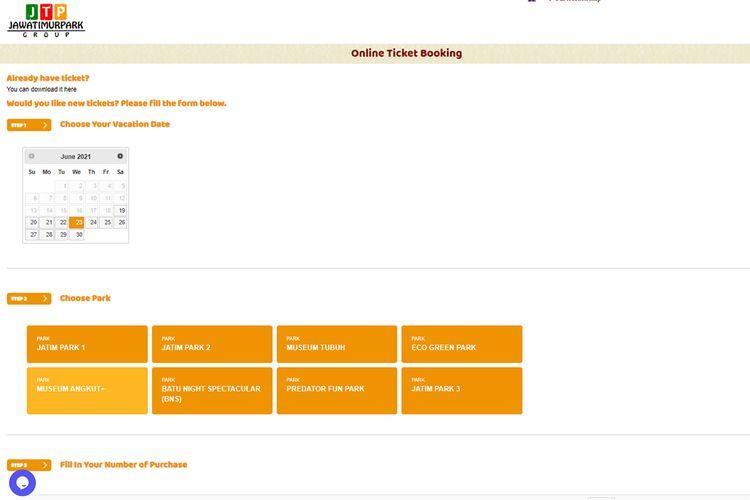 Formulir beli tiket online Museum Angkut dan tempat wisata lain di bawah Jatimpark Group