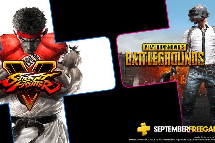 PUBG: PlayerUnknown?s Battlegrounds dan Street Fighter V adalah game PS Plus untuk bulan September.
