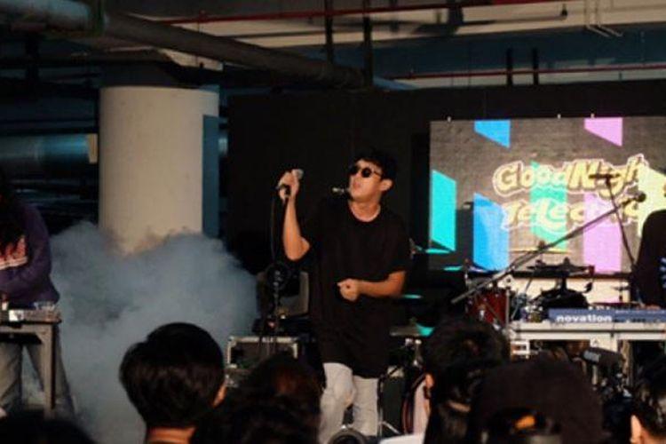 Goodnight Electric tampil di ajang 7th Music Gallery, Jakarta, Sabtu (11/3/2017).