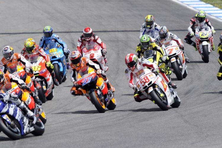 Sirkuit Estoril pernah menjadi tuan rumah MotoGP 2000-2012.  AFP PHOTO / JAVIER SORIANO (Photo by JAVIER SORIANO / AFP)