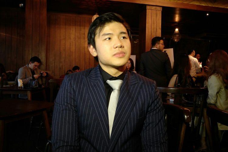 Nicholas Sean Purnama saat ditemui di acara Peluncuran Stevano Brill by Wong Hang di kawasan Kebayoran Baru, Jakarta Selatan, Rabu (3/7/2019).