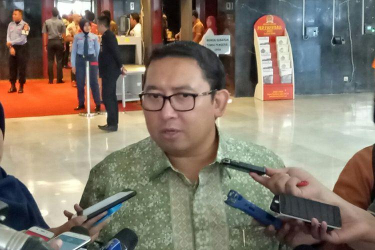Wakil Ketua Umum Partai Gerindra Fadli Zon di Kompleks Parlemen, Senayan, Jakarta,  Senin (6/11/2017)
