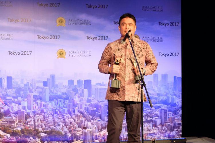 Telkom raih penghargaan Grand Stevie Awards sebagai Organization of the Year 2017.
