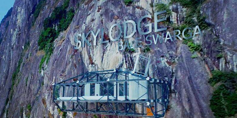 Proyek hotel gantung di Gunung Parang, Purwakarta.