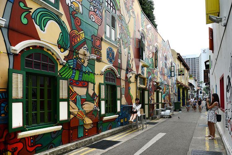 Ilustrasi Singapura - Haji Lane.