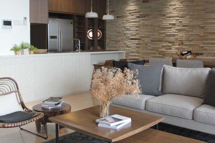 Batu Alam Bikin Interior Apartemen 50 Meter Persegi Lebih Cozy Halaman All Kompas Com
