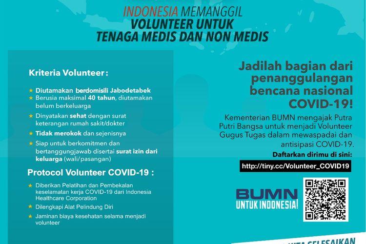 Info Lowongan volunteer Covid-19