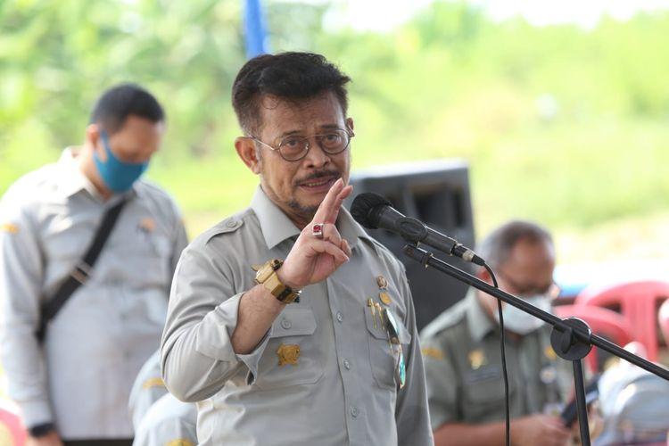 Menteri Pertanian, Syahrul Yasin Limpo mengimbau masyarakat untuk tenang dengan tidak melakukan panic buying,, Kamis (30/4/2020).