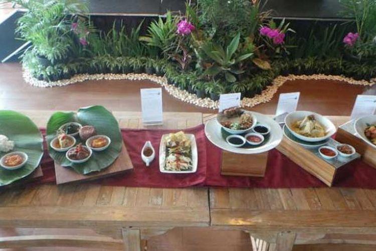 Aneka kuliner nusantara baru di Atria Hotel Serpong, Tangerang Selatan, Banten, Rabu (20/1/2016).