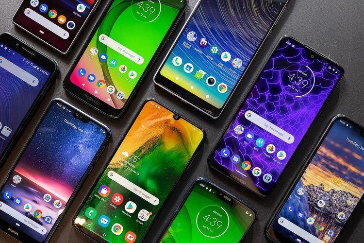 ilustrasi smartphone Android