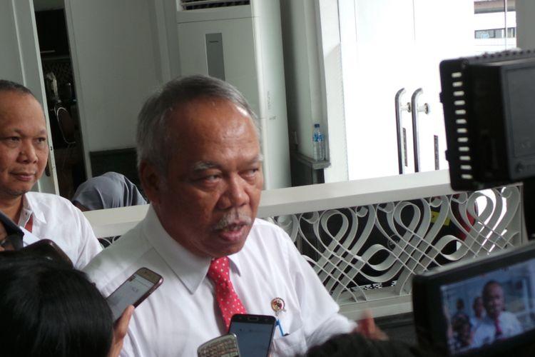 Menteri Pekerjaan Umum dan Perumahan Rakyat Basuki Hadimuljono, di kantor Bappenas, Menteng, Jakarta Pusat, Selasa (11/7/2017).