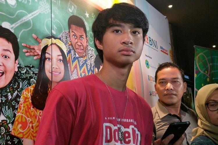 Artis peran Devano Danendra saat ditemui di gala premierw film Doremi & You di CGV Grand Indonesia, Tanah Abang, Jakarta Pusat, Jumat (14/6/2019).